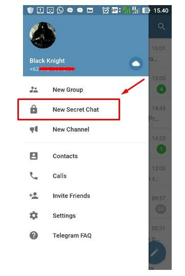 Cara chat rahasia menggunakn telegram