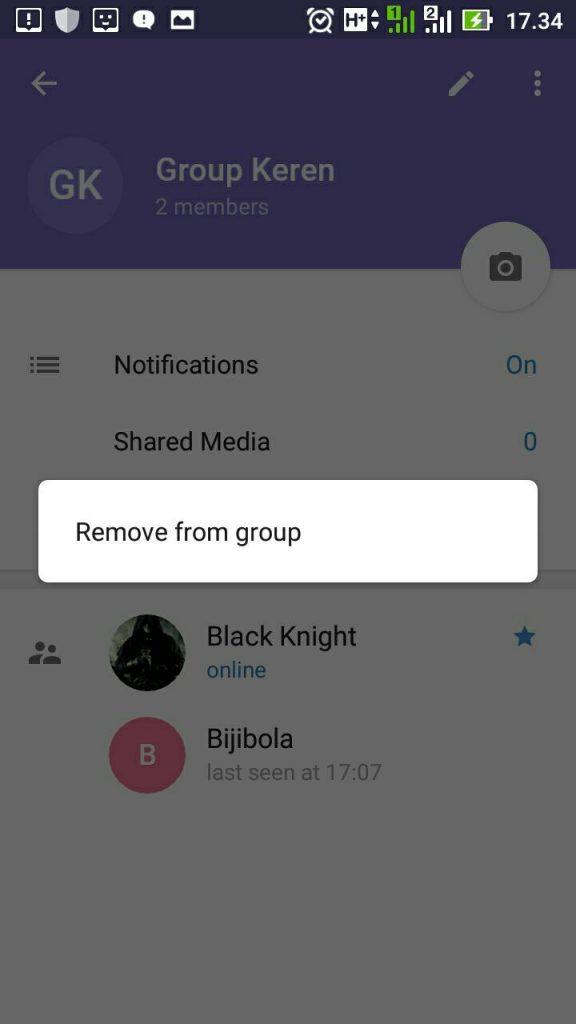 cara megeluarkan orang dari grup telegram