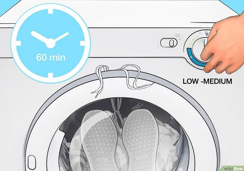 Cara mengeringkan sepatu dengan mesin cuci